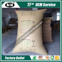 Avoid Transport Cargo Damages Container Air Bag in Logistic Packaging,Brown Kraft Paper Dunnage Air