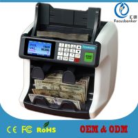 FB-900 two pocket currency sorter/money counter/fake note detector