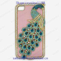 mobile phone case for iphone4/4s diamond case plastic