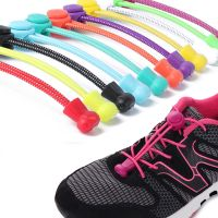 No Tie Locking Round Shoelaces Elastic Shoelace Sneaks Shoe Laces Fit Strap