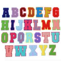 CNL071 chenille letters, chenille patches lettering, chenille badges, chenille emblems