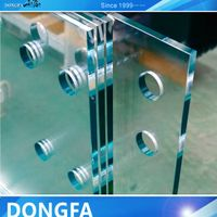 high quality clear toughened laminated safety building glass for stairs tread, railing system