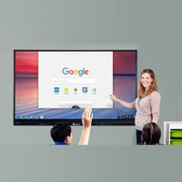 75 Inch Ultra HD 4K Interactive Touch Screen Monitor Smart Board TV With PC All In One thumbnail image