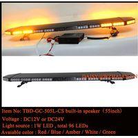 55 inch Black Aluminum Dome Amber LED Safety Lightbar built-in speaker