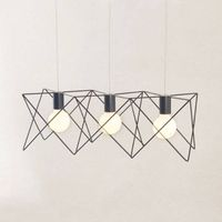 Vintage Cage Pendant Lamps Modern Creative White/Black Light Living Room Pendant Lights