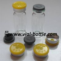 10ml Tubular Glass Vial for Antibiotics, lemon yellow flip-off caps, rubber stopper thumbnail image