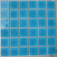 48x48mm Ice Crackled glazed pool tiles thumbnail image