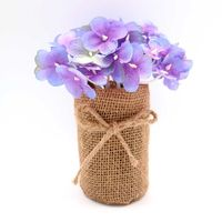 Artificial Hydrangea in burlap home accents flower