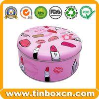 Customized Round Tin Can Metal Cosmetics Tin Box