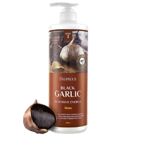 Korean shampoo DEOPROCE BLACK GARLIC INTENSIVE ENERGY RINSE