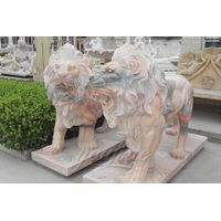 Hot Selling Outdoor Marble Animal Lion Sculpture