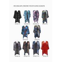60% viscose 40% silk velvet long jackets