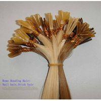 100% human hair extensions(Pre-bonded hair extension/keratin hair extensions)