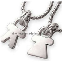 Fashion Pairs of Stainless Steel Love Boy and Girl Necklace Pendants (PZ8617)