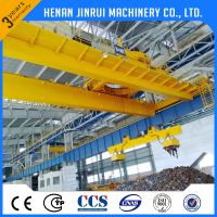 Steel Scrap Plate Electric Lifting Magnetic Overhead EOT Crane Price thumbnail image