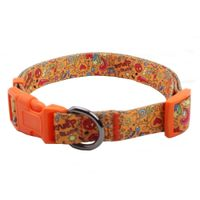 Printing dog collar supplies: polyester webbing plastic buckle