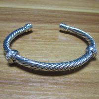 Sterling Silver Jewelry 5mm Silver Bracelet with CZ Diamonds (B-094) thumbnail image