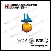 API 6D Cast Steel Pneumatic Trunnion Ball Valve Manufacturer