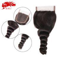 unprocessed virgin hair loose wave closure