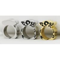 fashion stainless steel bear jewelry bear rings