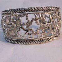 Sterling Silver Jewelry Pave Cz Diamonds Bracelet (B-083) thumbnail image