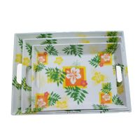 Minlawares Plastic melamine food serving tray eco-friendly