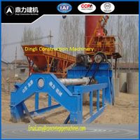 Construction pipe molding machine by roller suspension