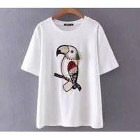 LADY'S CUSTOMIZED DESIGN T-SHIRT CLOTHING EMBRODIERY DESIGN