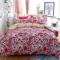 polyester hotel bed cover flat sheet/duvet/pillowcase printed duvet covers set