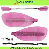 Pink Transparent Fiberglass Whitewater Paddle