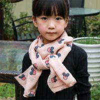 Soft Fashion Kids Children Scarf with Mickey Pattern