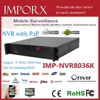 High Definition Network NVR 36CH Support onvif and 9 SATA HDD
