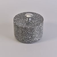 home decoration hot selling Terrazzo Stone candle jar with lids thumbnail image