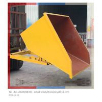 Forklift Steel Self Dumping Hopper for Fork Truck / Trash Hopper/ Tilt Dumpster