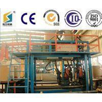 Horizontal h beam manufacturing machine