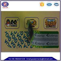 Void sticker -- Manufacturer