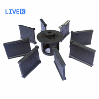 spare parts for shot blasting machine , impeller , control cage , blade , guard plate