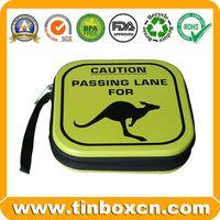 CD tin case,tin CD box,cd tin can,tin box,tin can