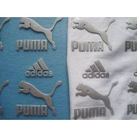 Custom clothing rubber / silicon heat transfer label thumbnail image