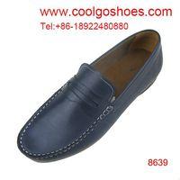 Classic Italian casual calfskin leather men shoes