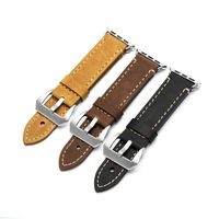 Crazy Horse Leather watchband fit for apple watch band