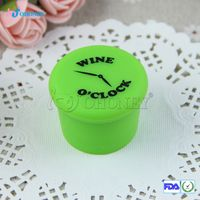 Factory Custom Silicone Rubber Red Wine Bottle Stopper