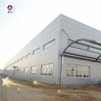 Big canopy PU wall sandwich panel steel structure prefab workshop light steel frame oil workshop