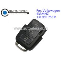 Volkswagen VW Remote Key Square Head 3 Button (433Mhz,1J0 959 753 P) thumbnail image