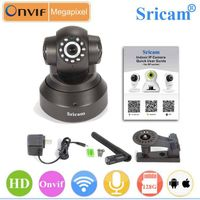 Sricam Pan Tilt P2P Indoor IP Camera wireless viwming via QR Code Scanning by Android and iphone