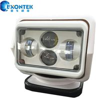 Remote 360 Rotating 60W LED Work search Light with Magnetic Base for Boat Yacht Camping Hunting