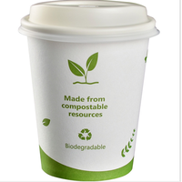 100% Compostable Biodegradable PLA Coffee Paper Cups thumbnail image