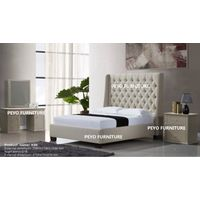 Modern UK style upholstered leather bedroom sets