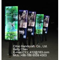 movable energy saving back pack advertising light box