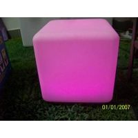 Nice Large Furniture LED PartyAcrylic led chair light & led cube seat lighting furniture